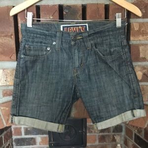 Levi's 511 jean rolled cuff shorts Sz 28